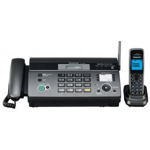 Факс Panasonic KX-FC968RU-T темно-серый металлик печ.:на термобумаге DECT трубка АОН автоответчик