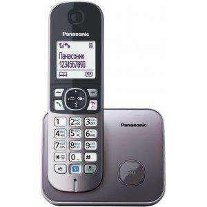 Р/Телефон Dect Panasonic KX-TG6811RUM серый металлик АОН