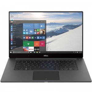Ноутбук Dell XPS 15 Core i7 7700HQ/16Gb/SSD512Gb/nVidia GeForce GTX 1050 4Gb/15.6\/IPS/Touch/UHD (3840x2160)/Windows 10 64/silver/WiFi/BT/Cam
