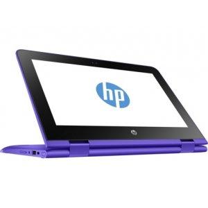 Трансформер HP Stream x360 11-aa002ur Celeron N3050/2Gb/SSD32Gb/Intel HD Graphics/11.6\/IPS/Touch/HD (1366x768)/Windows 10 64/violet/WiFi/BT/Cam