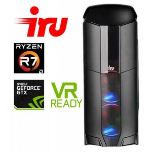 ПК IRU Premium 721 MT Ryzen 7 1700 (3)/16Gb/1Tb 7.2k/GTX1080 8Gb/Windows 10 Home Single Language 64/GbitEth/600W/черный/(RUS)