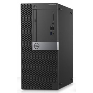 ПК Dell Optiplex 7050 MT i7 6700 (3.4)/16Gb/SSD256Gb+256Gb/R7 450 4Gb/DVDRW/Windows 7 Professional 64 W10Pro Lic/GbitEth/240W/клавиатура/мышь/черный/серебристый
