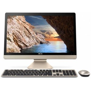Моноблок Asus V241ICUK-BA070T 23.8\ Full HD i3 7100U (2.4)/8Gb/1Tb 5.4k/HDG620/Windows 10 64/GbitEth/WiFi/BT/65W/клавиатура/мышь/Cam/черный/золотистый 1920x1080